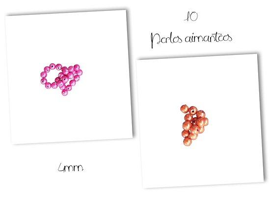10 perles rondes aimantées 4mm