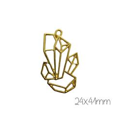Support de pendentif gemmes pour résine UV époxy en métal doré 24x41mm