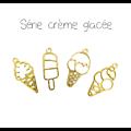 Support de pendentif crèmes glacées pour résine UV époxy en métal doré