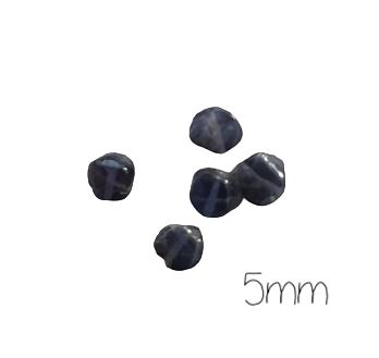 10 perles palet de iolite ou saphir d'eau bleu intense/violet 5mm