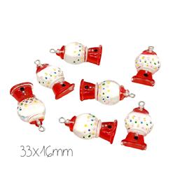 Breloque distributeur de bonbon en acrylique 33x16mm