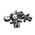 Breloque petit squelette en acrylique noir/blanc 32x23mm