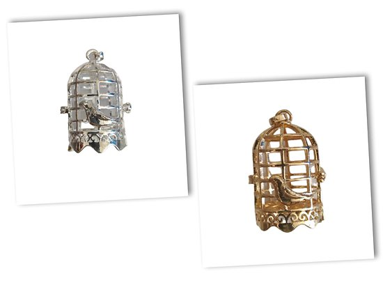 Cage à bola cage à oiseau en métal 46x26mm