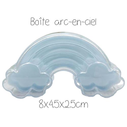 Boîte arc-en-ciel bleu clair 8x4,5x2,5cm
