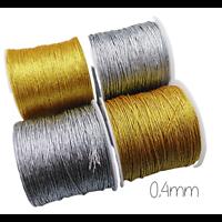 2m de fil lurex or/argent 0,4mm