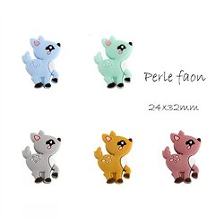 Perle faon en silicone alimentaire 24x32mm