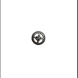 2 perles palet ajouré en métal argenté 17x9m