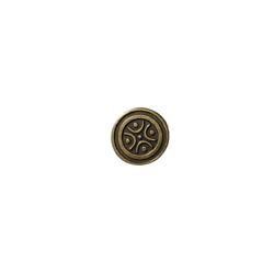 2 perles rondes palets passantes en métal couleur bronze 17,5x4,5mm