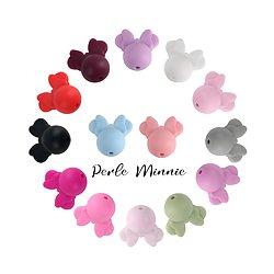 Perle Minnie / tête de souris en silicone 20x22mm