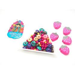 Kit pour sautoir enfant de type rosaire aux perles multicolores