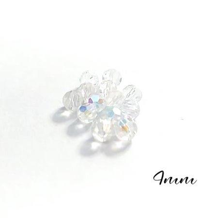 10 petites perles rondes à facettes transparentes en cristal de Bohème 4mm