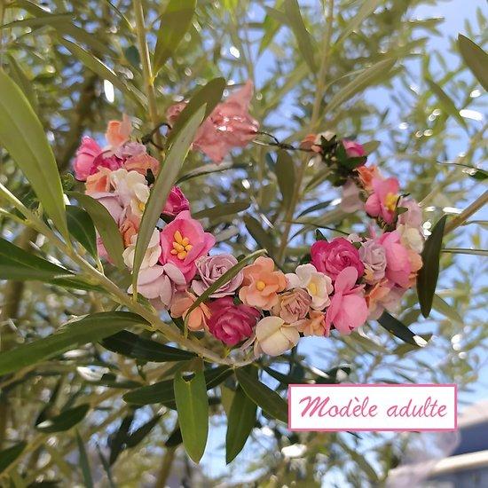 Couronne de fleurs pour cérémonie, séance photos...