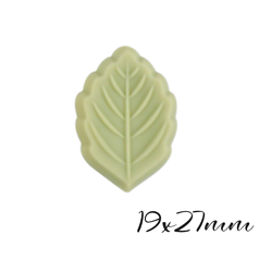 Perle feuille en silicone alimentaire vert marcha 19x27mm