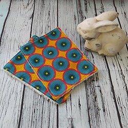 Maxi lingette en coton wax africain et éponge de bambou bio ivoire