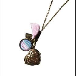"""Bola de grossesse """"Coeur d'amour"""" en métal bronze"""