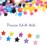 Bouton pression étoile pour pince KAM