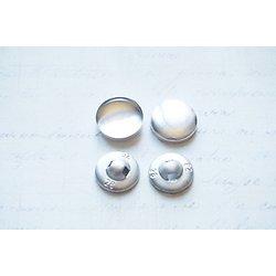 4 kits de boutons à recouvrir en alu 20mm
