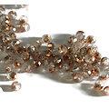 15 perles à facettes en cristal de Bohème bicolores 6x5mm