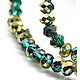 20 perles rondelles à facettes en cristal de Bohème 4mm