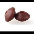 Perle lentille en silicone alimentaire 12x12x7mm