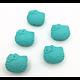 Perle tête de chat / Kitty en silicone 20,5x18mm