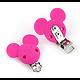 Clip tête de Mickey en silicone alimentaire 56x61mm