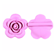 Grande perle rose en silicone alimentaire 40x40x15mm