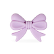 Perle noeud papillon ruban en silicone alimentaire 28x21x6mm