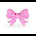 Perle noeud papillon ruban en silicone alimentaire 28x21x6mm