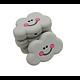 Perle nuage en silicone alimentaire sans BPA 27x22mm