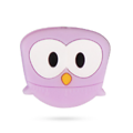 Perle chouette / hibou en silicone alimentaire sans BPA 30x25x10mm - perle de dentition, pour bébé
