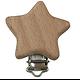 Clip en bois naturel - animal ou forme pour attache-tétine