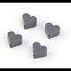 Perle coeur en silicone alimentaire sans BPA - 14mm