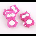 Perle raton laveur en silicone alimentaire sans BPA 3x2cm