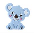 Perle koala assis en silicone alimentaire sans BPA 27x28mm