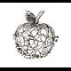 Cage à bola pomme en métal 31x29mm