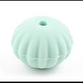 Perle lanterne / citrouille à rainures en silicone alimentaire sans BPA 18mm