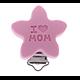 """Clip étoile """"I love Mom"""" en silicone alimentaire sans BPA 40mm"""