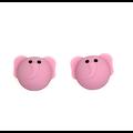 Perle éléphant en silicone alimentaire sans BPA 24x20x16mm