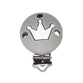 Clip rond et couronne en silicone alimentaire sans BPA 35mm