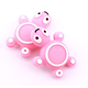 Perle tortue en silicone alimentaire sans BPA 27x22mm
