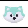Perle / Anneau de dentition tête de renard bicolore en silicone alimentaire sans BPA