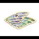 Breloque aile de papillon très fine en tissu et dorure 30x18mm