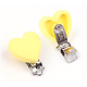 Clip coeur en silicone alimentaire sans BPA 27x38mm