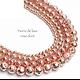 5/10 perles en pierre de lave finition argentée ou doré rose