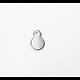 5 mini breloques pastille ronde en métal 7mm