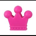 Perle couronne en silicone 35x30x7mm