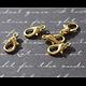 5 fermoirs mousqueton en métal argenté / bronze / doré 12x7mm