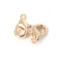 5 fermoirs mousqueton en métal argenté / bronze / doré / doré clair 12x7mm