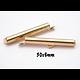 2 fermoirs tube pour création tissée en métal pour tissage de perles
